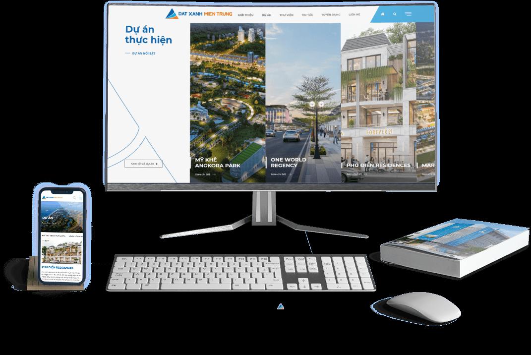 Thiết kế website bất động sản Đất Xanh Miền Trung